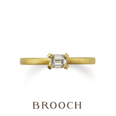 新潟で四角い特徴的な婚約指輪をさがすならブローチだけの取り扱いオレッキオがクールでかっこよくておすすめ
