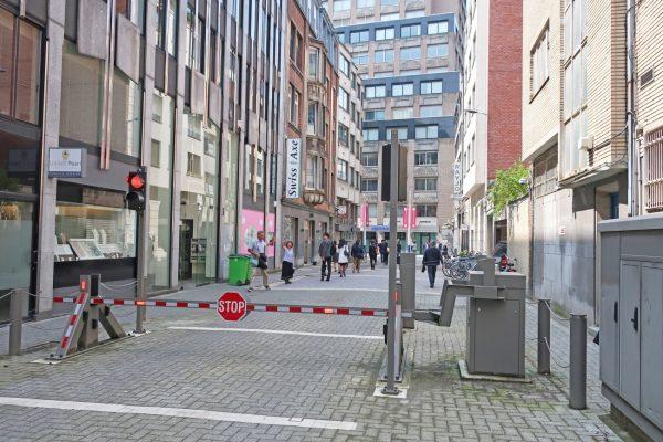 ベルギーアントワープのダイヤモンドストリート