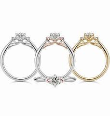 ケイウノの婚約指輪リボンがかわいい