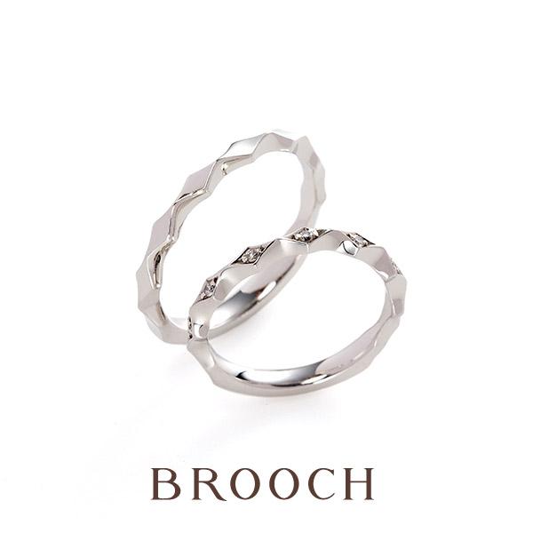 ダイヤモンドがキレイ個性的でかぶらないデザインの結婚指輪Lumina