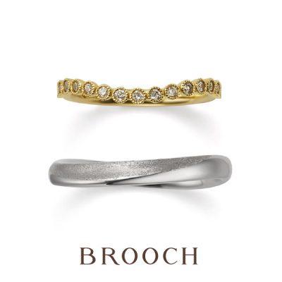 ゴールドで個性的なかわいい結婚指輪はbroochで取り扱いのあるORECCHIOオレッキオ