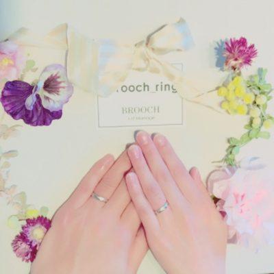 新潟で可愛いシンプルデザインの結婚指輪を探すならユーロウェディングバンドの取り扱いのあるBROOCH