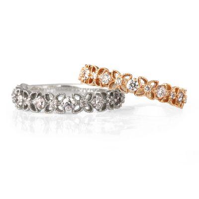 可愛い花冠のような婚約指輪で周りと差をつける