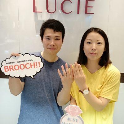 LUCIEルシエleafageリファージュ新潟結婚指輪人気シンプルダイヤモンド