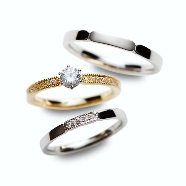 新潟BROOCHブローチロゼット木立セットリング結婚指輪婚約指輪マリッジリングエンゲージリングブライダルプレ花花嫁ゼクシー