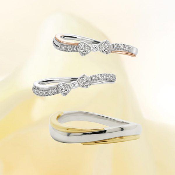 mariageのリボbbをモチーフにしたかわいいっ結婚指輪