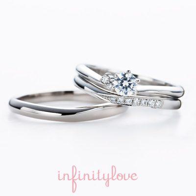 シンプル可愛い結婚指輪マリッジリングはinfinityloveインフィニティラブのムーンMOON月