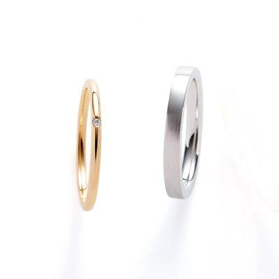 シンプルかわいいENUOVEのマリッジリング結婚指輪
