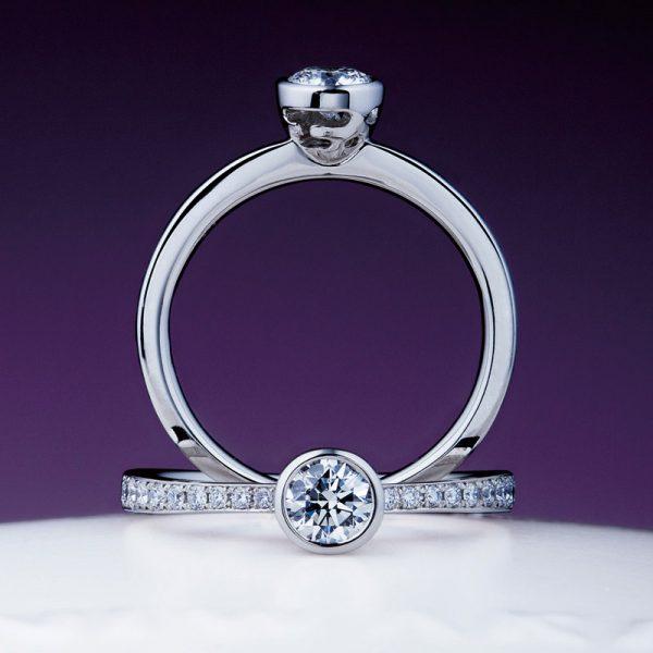 シンプルで上品な婚約指輪NIWAKA俄ニワカにわかの八重霞