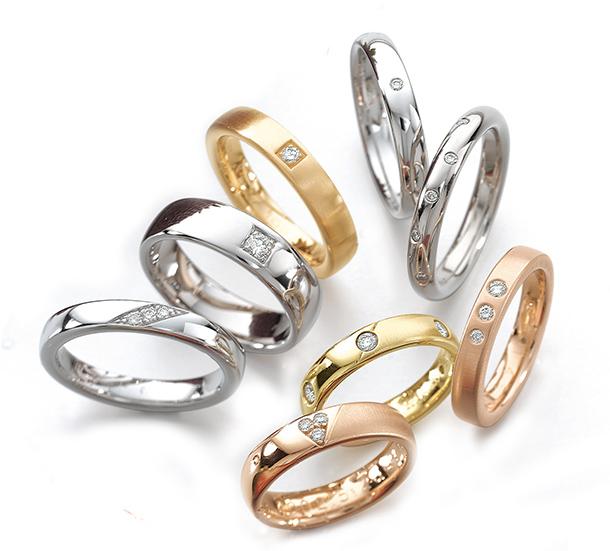 結婚指輪 鍛造 丈夫 スイス製 マリッジリング