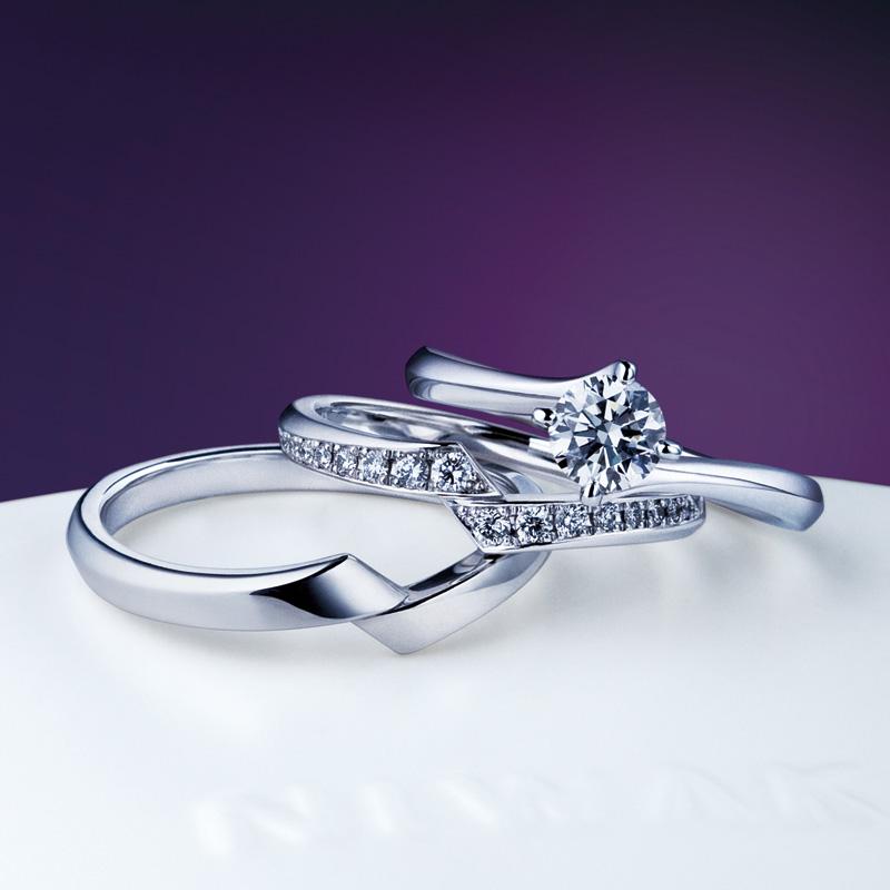 新潟NIWAKA俄にわかニワカ綾柊セットリングマリッジリングエンゲージリング結婚指輪婚約指輪