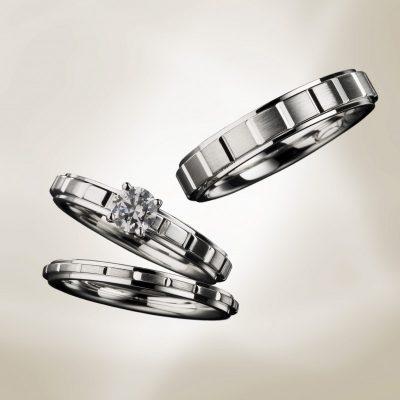 シンプルで格好いい結婚指Euro Wedding Band ユーロウェディングバンド 輪婚約指輪