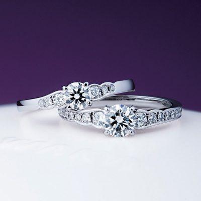 華やかエンゲージリング婚約指輪はNIWAKAニワカにわか俄の花麗
