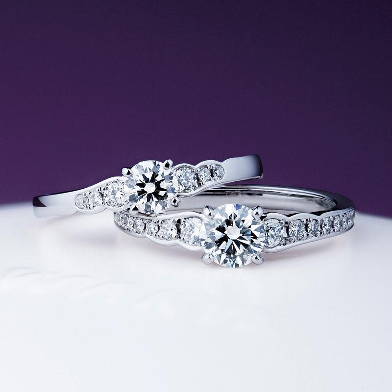 華やかエンゲージリング婚約指輪はNIWAKA【にわか】の花麗【はなうらら】