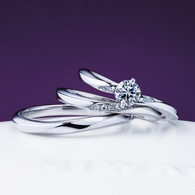 シンプルきれいで上品なNIWAKA俄ニワカにわかのマリッジリング結婚指輪婚約指輪は新潟BROOCHで朝葉露華
