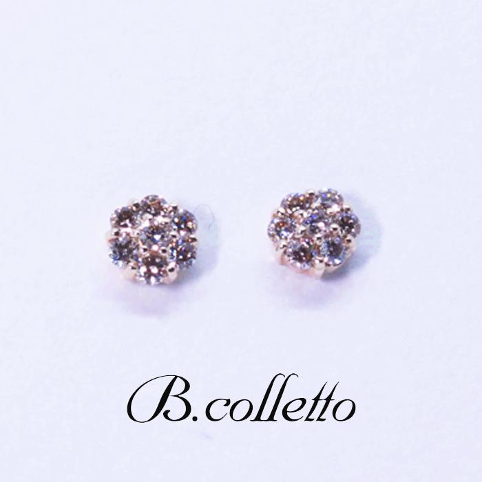 B.colletto フラワーダイヤピアス