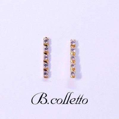 B.colletto ダイヤバーピアス