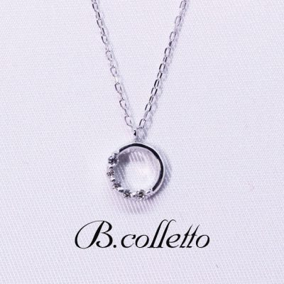 B.colletto circle half dia necklace