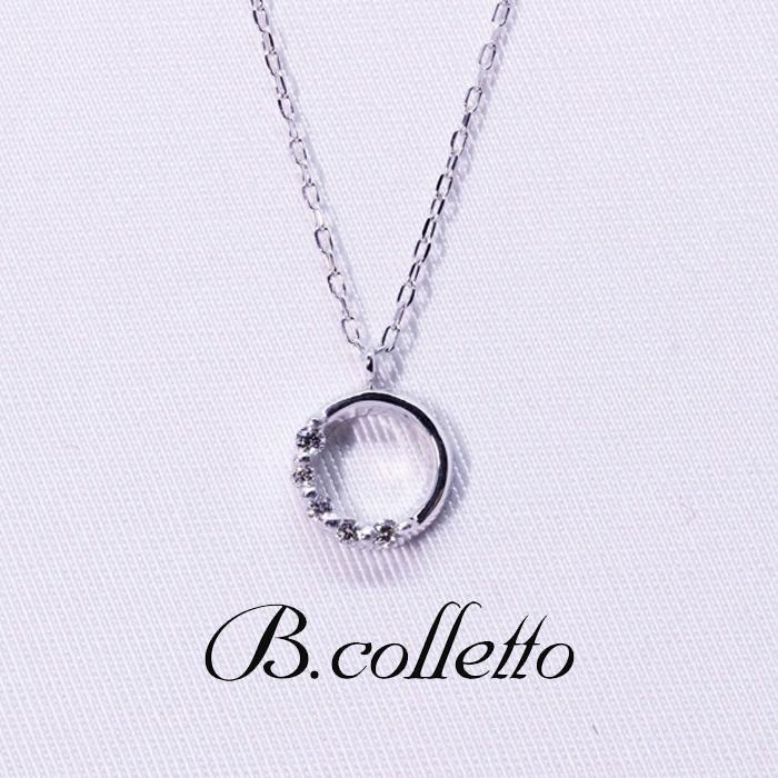 B.colletto サークルハーフダイヤネックレス