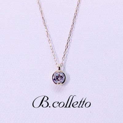 B.colletto dia 1P necklace