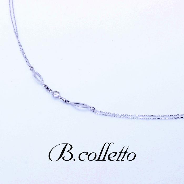 B.colletto ダイヤモンドオーバルブレスレット