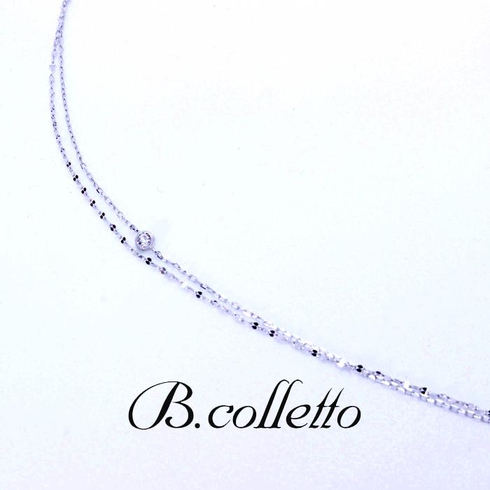 B.colletto ダブルチェーンブレスレット