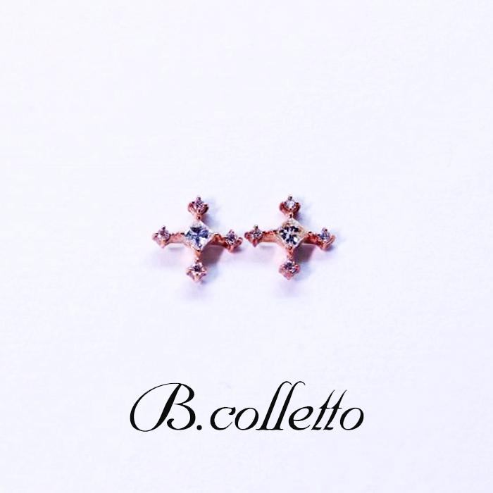 B.colletto ダイヤ十字ピアス