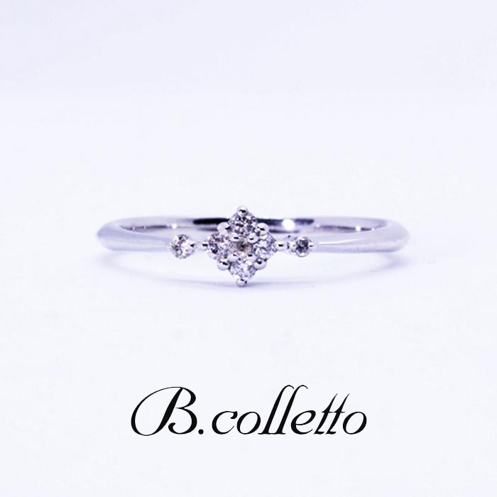 B.colletto サイドメレフラワーリング(ホワイト)