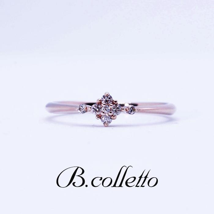 B.colletto サイドメレフラワーリング(イエロー)