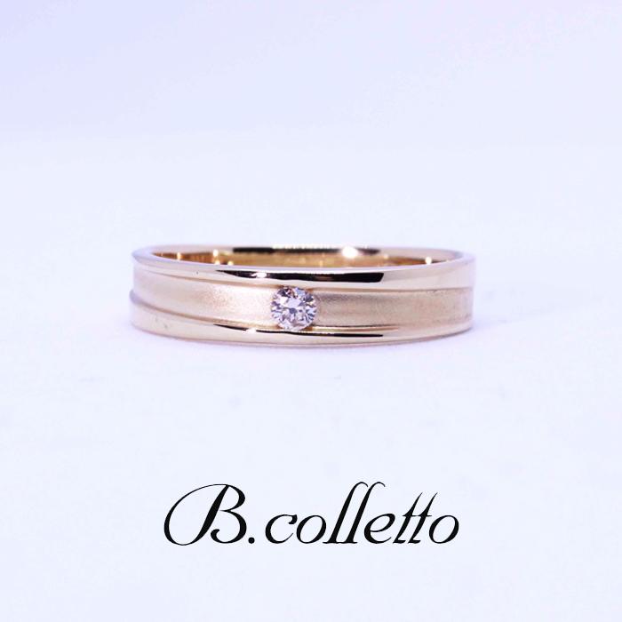 B.colletto ダイヤモンド一石ゴールドリング
