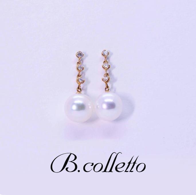 B.colletto パール&ダイヤピアス