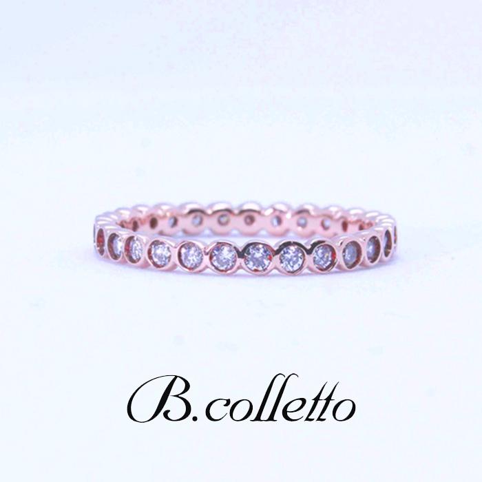 B.colletteフルエタニティーピンキーリング