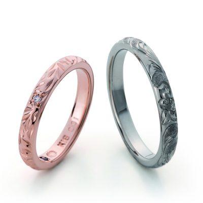 寒さも吹き飛ばすオシャレでカッコいい結婚指輪は手彫りのMAKANA