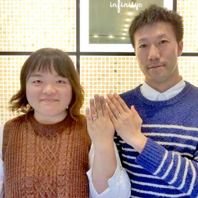 新潟市結婚指輪 インフィニティ プレ花嫁人気 アンティーク マリッジリング