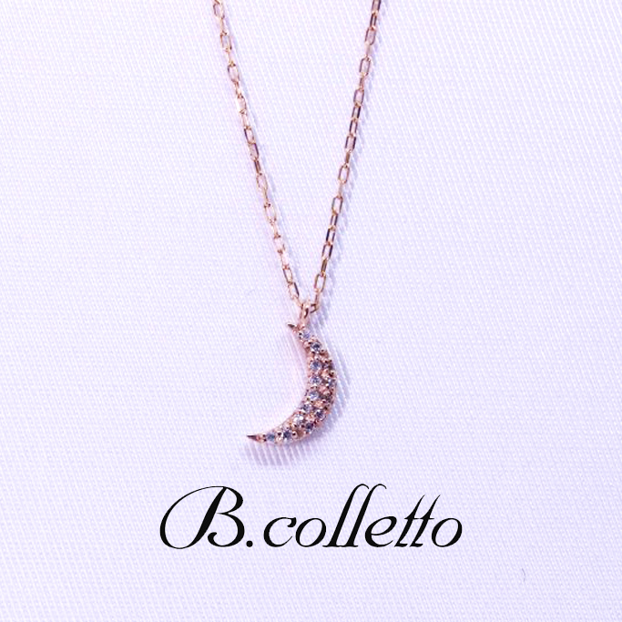 B.colletto ムーンダイヤネックレス