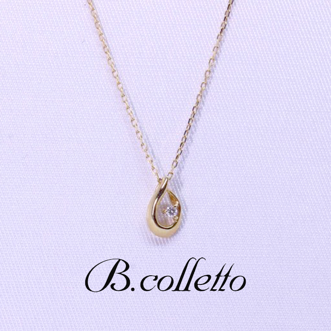 B.colletto ドロップダイヤネックレス