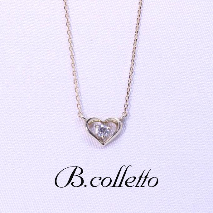 B.colletto ハートセンターダイヤネックレス