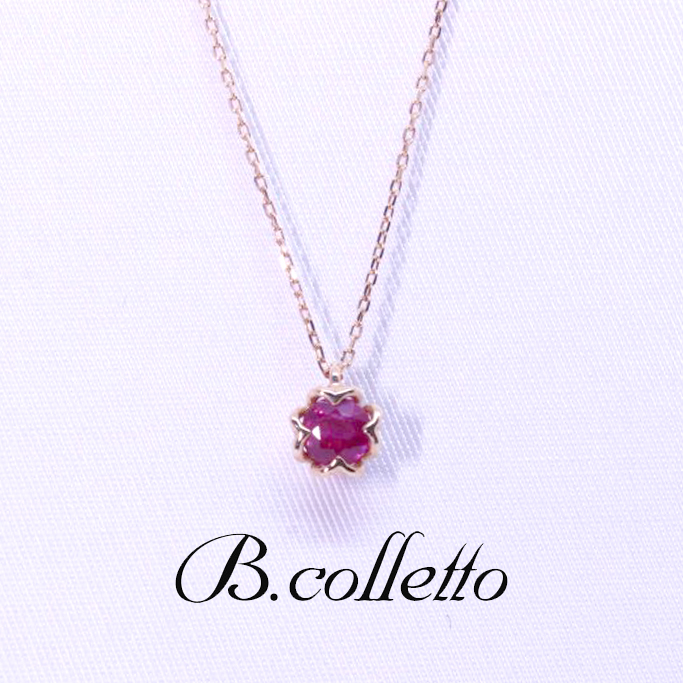 B.colletto ルビーネックレス