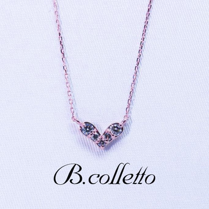 B.colletto ハートダイヤネックレス