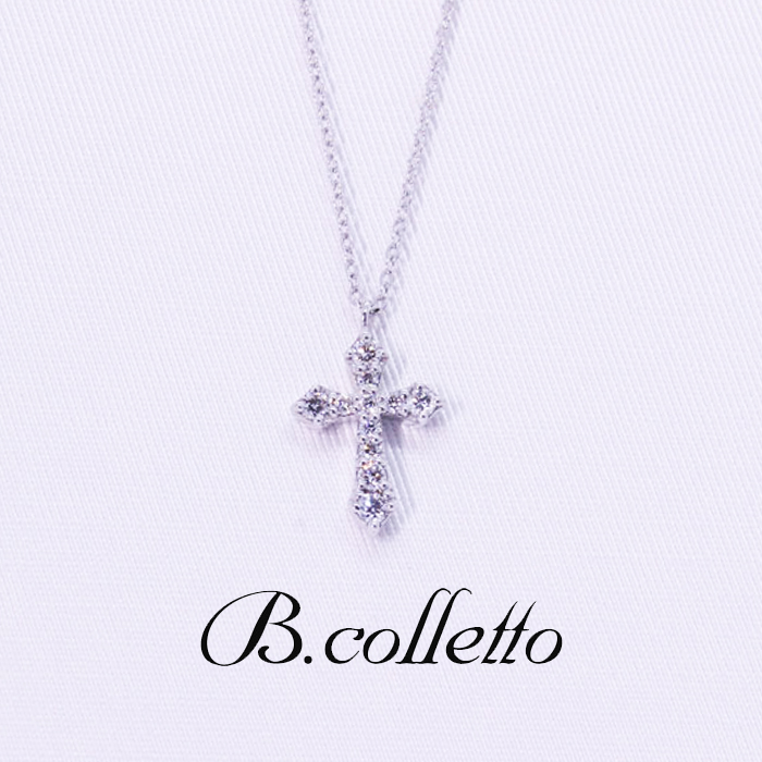 B.colletto ダイヤクロスネックレス