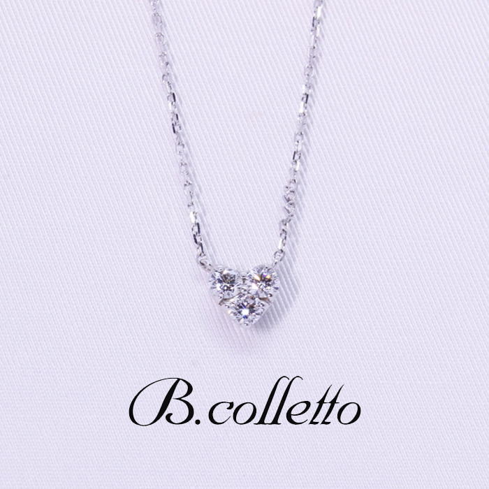 B.colletto ダイヤハートネックレス