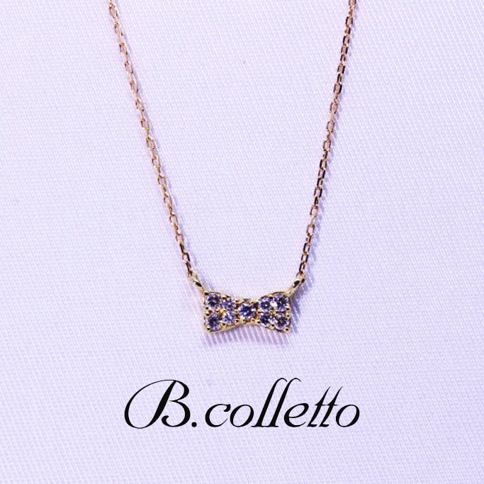B.colletto リボンネックレス