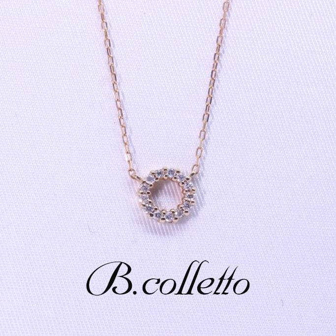 B.colletto サークルダイヤネックレス
