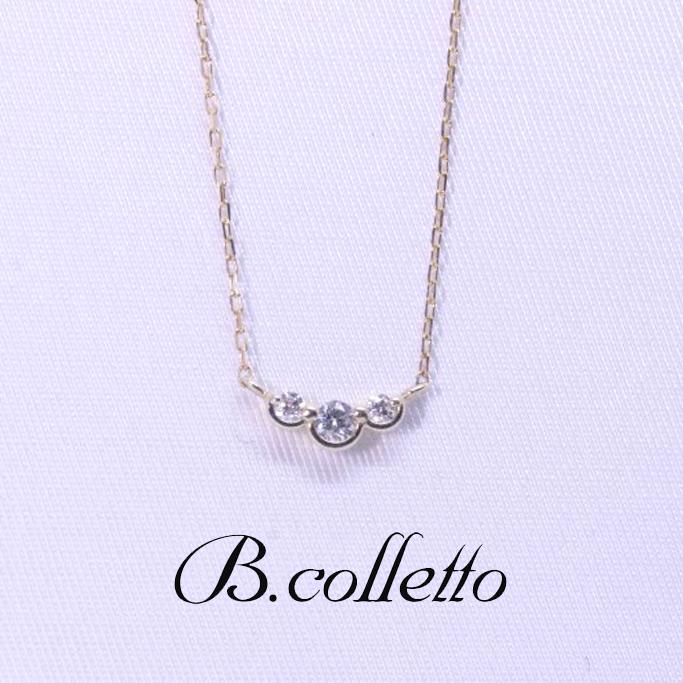 B.colletto ダイヤ3連ネックレス