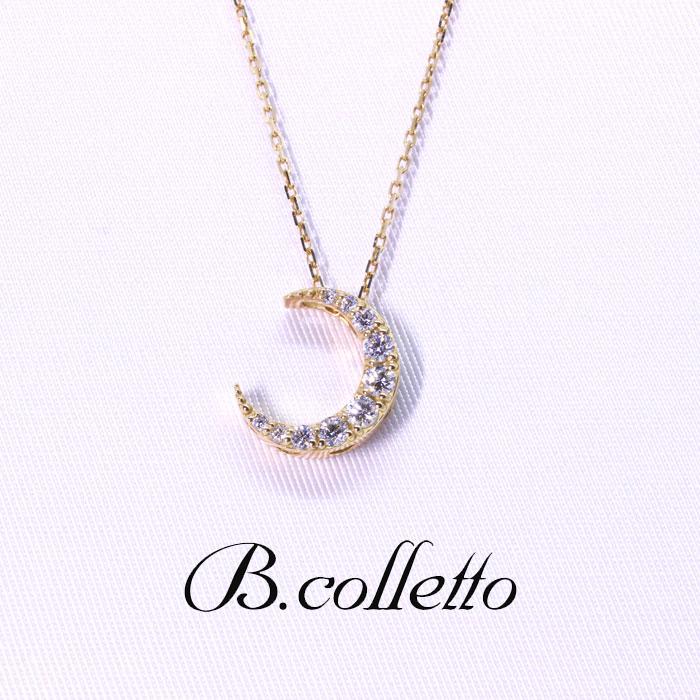 B.colletto ムーンダイヤネックレス(サイドハート)