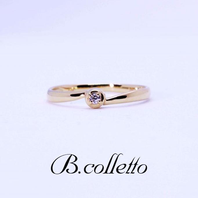 B.colletto ウェーブダイヤピンキーリング