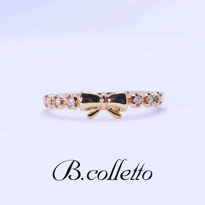 B.colletto リボンピンキーリング