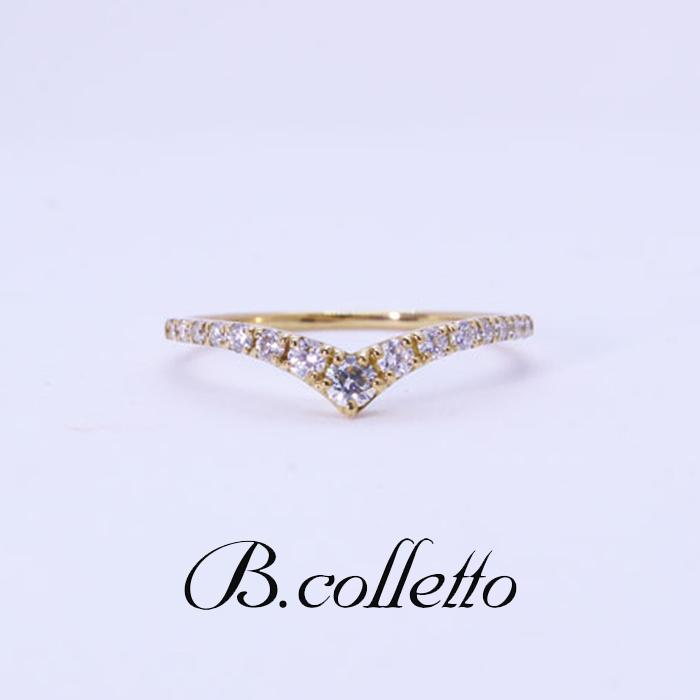 B.colletto V字ダイヤラインリング