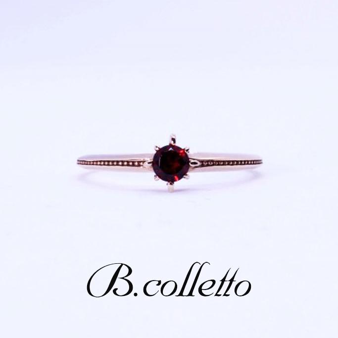B.colletto ガーネットリング