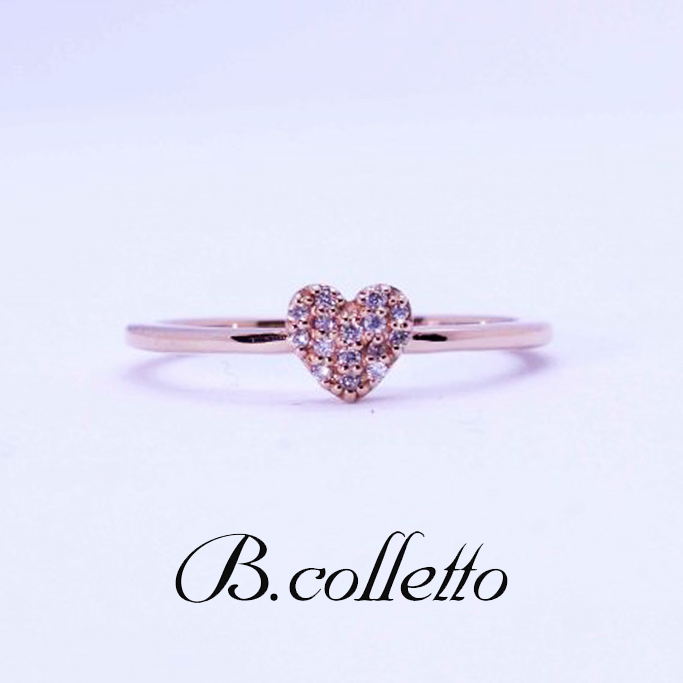 B.colletto ハートダイヤリング